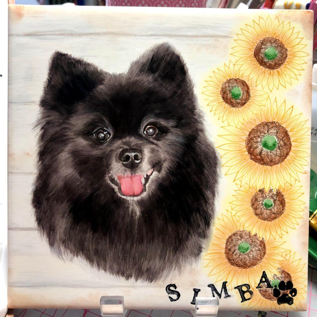 黒い犬の描き方