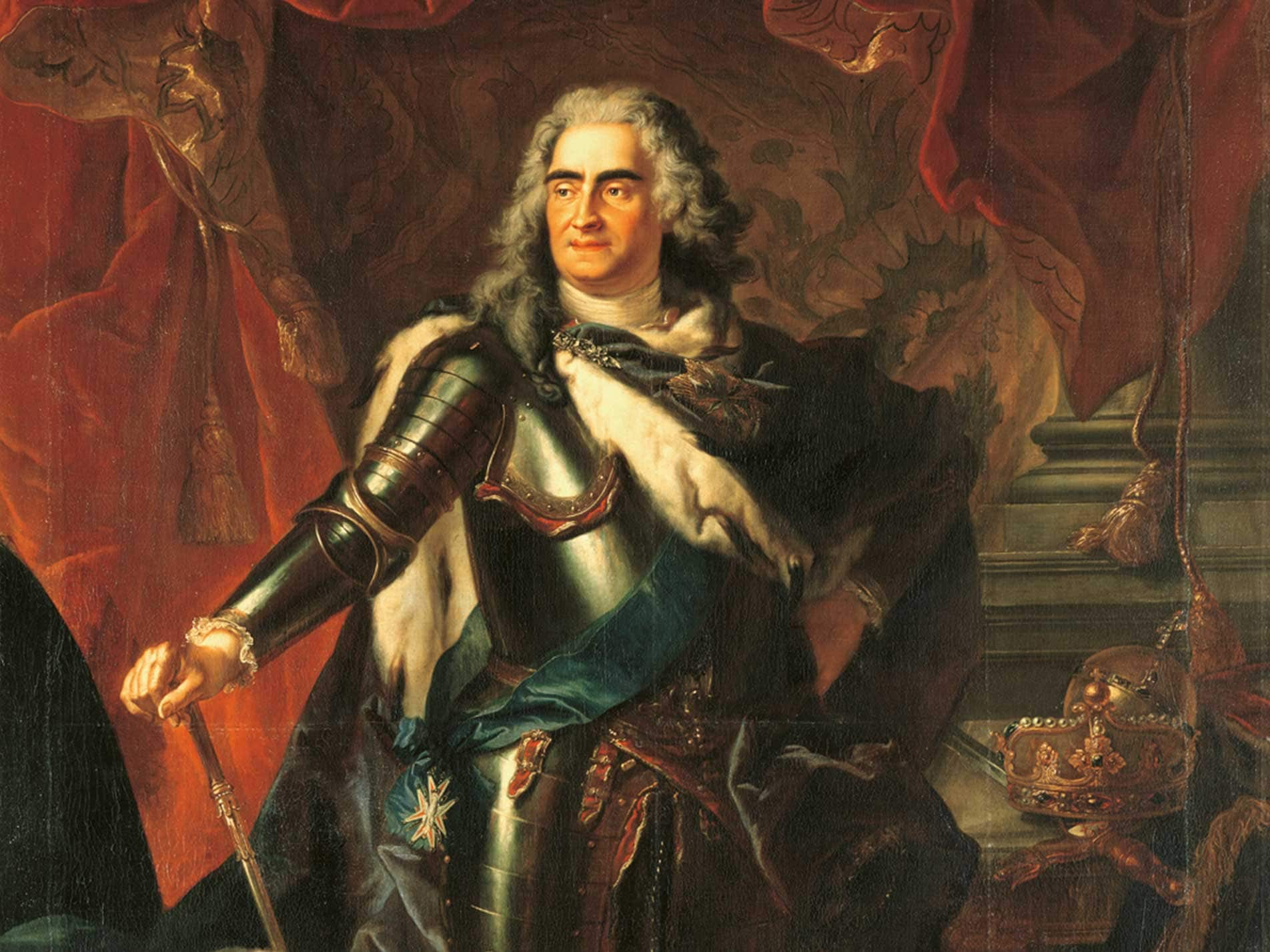 アウグスト強王の肖像画