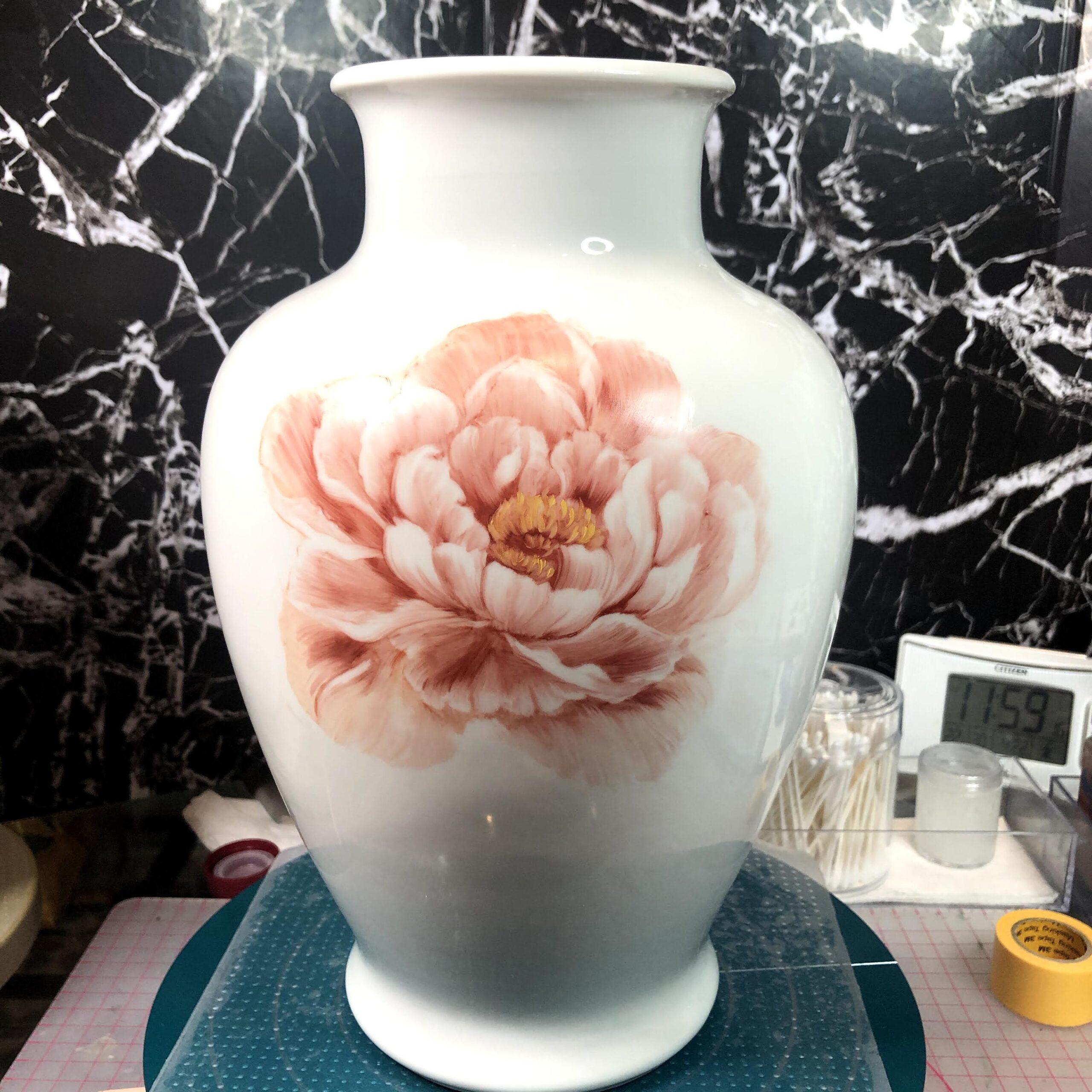 雑談【花道は自分で創る】〜3ヶ月で600時間の絵付け練習をします